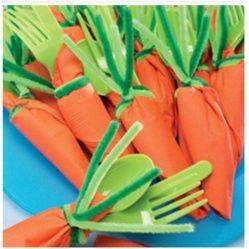 Carrot Place Settings From @FamilyFun