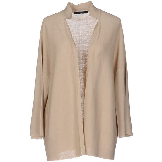 Blue Les Copains Cardigan (15.140 RUB) ❤ liked on Polyvore featuring tops, cardigans, sand, 3/4 sleeve cardigan, lightweight cardigan, beige cardigan, beige top and leather cardigan