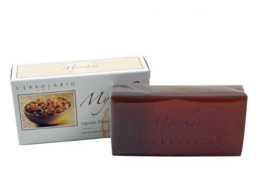 Myrrhae (Myrrh) Perfumed Soap Bar by L'Erbolario Lodi by L'Erbolario Lodi. $9.00. Myrrh Perfumed Soap with extracts of incense and myrrh creates a rich and creamy foam which is combined with the precious properties of its ingredients to leave skin clean and soft.Each bar contains 5.28 ounces (150g) of Myrrhae (Myrrh) Perfumed Soap by L'Erbolario.We regret that we are unable to ship this item to California as requested by the manufacturer.