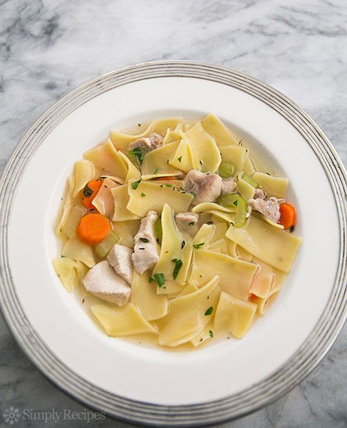 Chicken Noodle Soup ~ This is the BEST homemade chicken noodle soup! Made from scratch, light and nourishing. All the goodness from the chicken in one pot of soup. ~ SimplyRecipes.com
