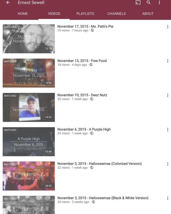 You should subscribe to my YouTube channel and watch #TheErnestShow. It's kind of a big deal.