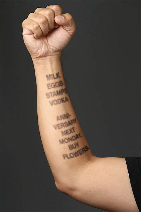 July 13, 2012 - Denuology.com: E-ink tattoos use your skin as a digital canvas