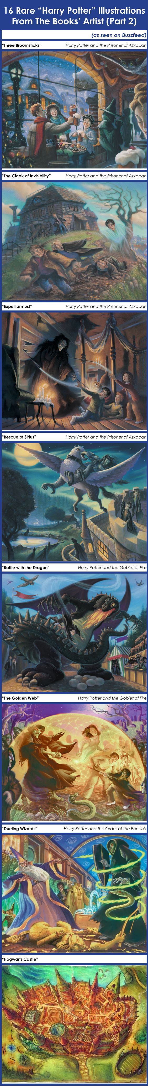 Harry Potter Book Illustrations ~ Rare quot harry potter illustrations from the books