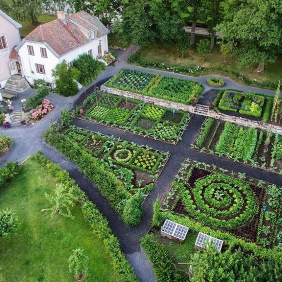 What S The Difference Between A Kitchen Garden And A Regular Vegetable Garden Just Dabbling Along Garden Pictures Dream Garden Vegetable Garden Design