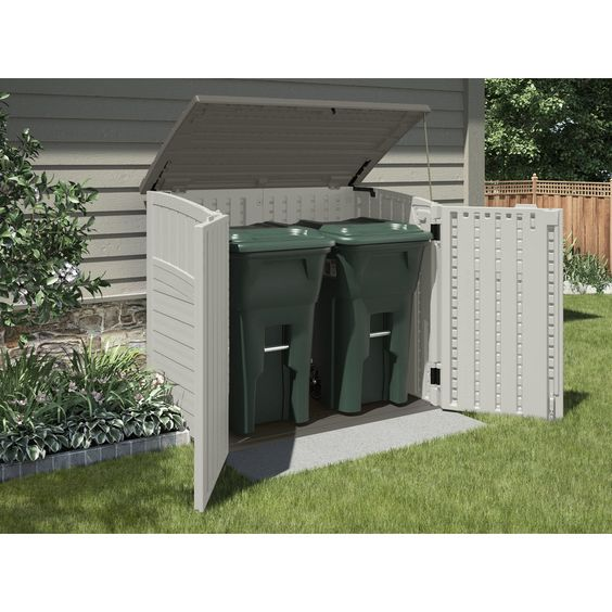 Suncast Vanilla Resin Outdoor Storage Shed Common 53 In