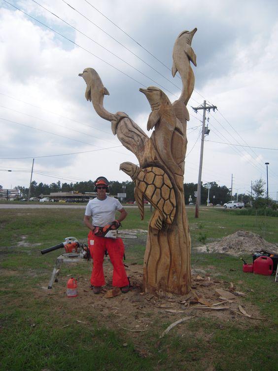 Marlin miller tree sculpture waveland mississippi