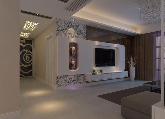 gypsum tv unit designs google search bedroom