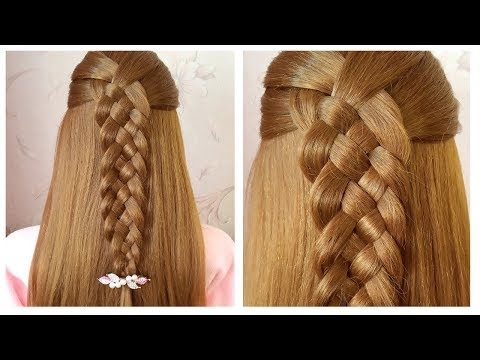 Tresse A 5 Brins Coiffure Facile Easy 5 Strand Braid Hairstyle For School College Work Youtube Hair Styles Coiffure Facile Braided Hairstyles