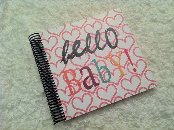 Hello Baby Memory and Keepsake Baby Book by WinkInkBooks on Etsy, $65.00