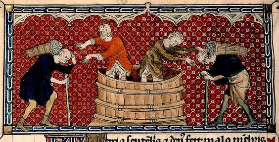 Wine making. detail. calendar September. England 1310-20. BL by tony harrison, via Flickr