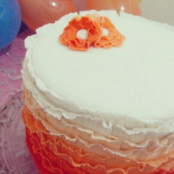 Ruffle Cake - primeira tentativa