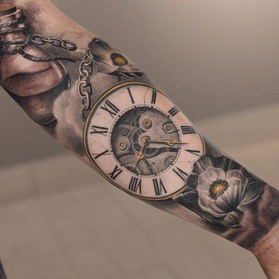 Pocket Watch Tattoo Best tattoo ideas designs   bA   Pinterest ...