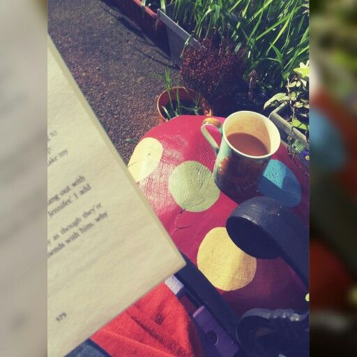Bright enough today to have a cuppa and a chapter outside after lunch, spring is coming! #bookworm #lovebooks #lovereading