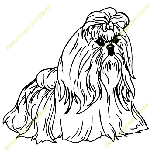 It's just an image of Priceless Shih Tzu Coloring Pages