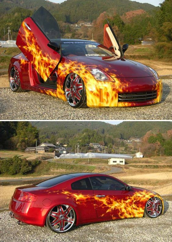 Joker Wildest Car Paint Jobs Toys For The Big Boys - Custom vinyl decals for rc carsimages of cars painted with flames true fire flames on rc car