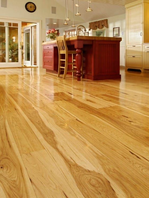 Hickory Wide Plank Flooring In New Hampshire Dining Room Hickory Hardwood Floors Wide Plank Flooring Hickory Flooring