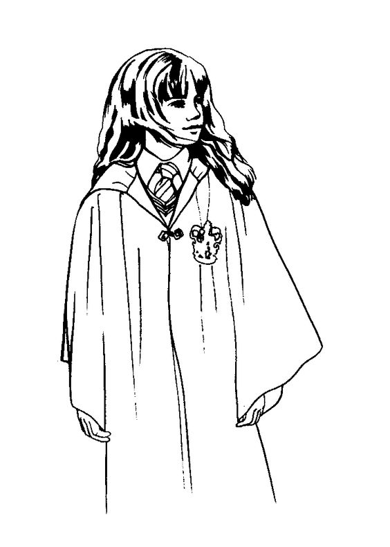 hermione granger harry potter 1 999 coloring pages