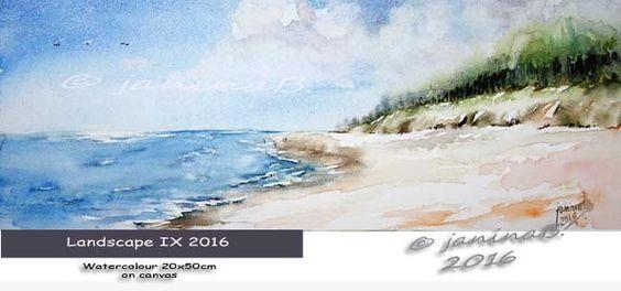 Landscape IX 2016 Watercolour 20x50cm on canvas © janinaB. 2016 / nicht verfügbar