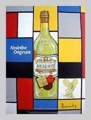 Grande Absente Absinthe originale art- Homage a Mondrian- by John Pacovsky