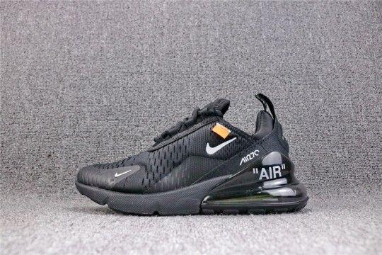 Off White X Nike Air Max 270 All Black Ah8050 100 Off White Shoes White Shoes Off White