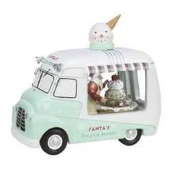 Musical Retro Santa Ice Cream Truck, must add to my Christmas collection!