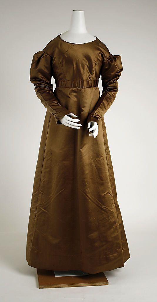 Dress, ca. 1820, American, silk. In The Metropolitan Museum of Art collection.