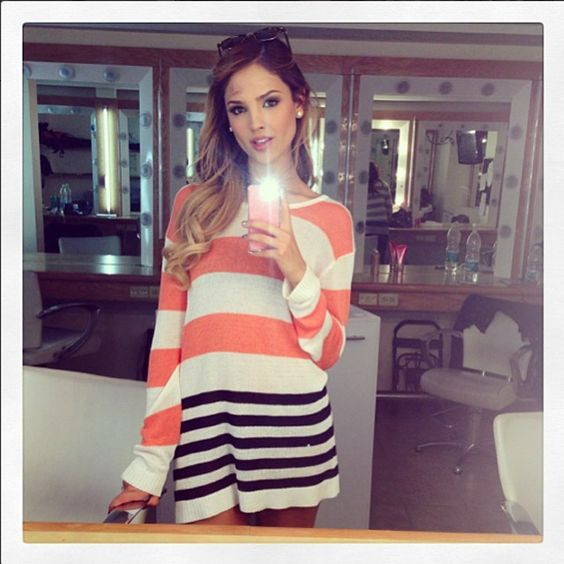 Quién.com : Eiza Gonzalez actress. Love her style in this picture.