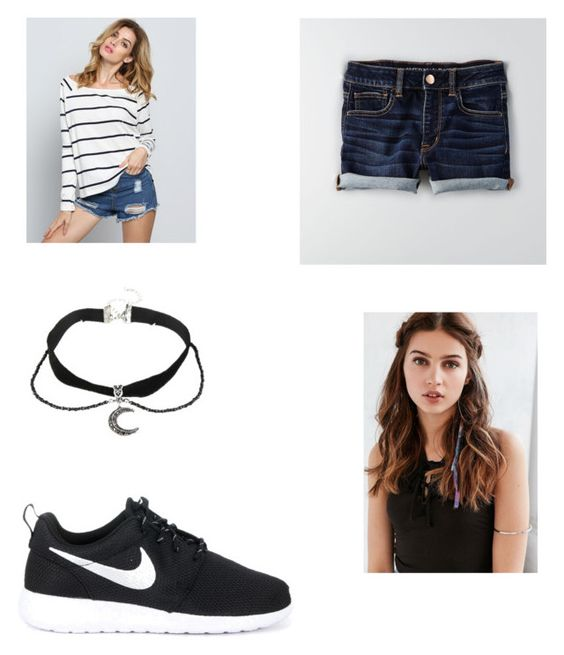 Donna. Mc diaries by snotface00 on Polyvore featuring polyvore, fashion, style, American Eagle Outfitters, NIKE, REGALROSE and clothing