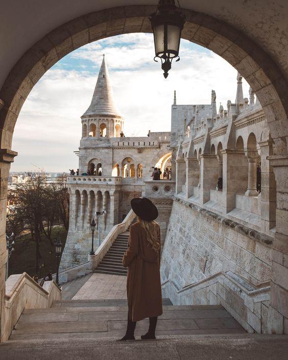 budapest castle travel girl // Hungary Travel Photos Inspiration