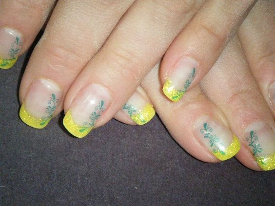Yellow color gel, and Stamp art