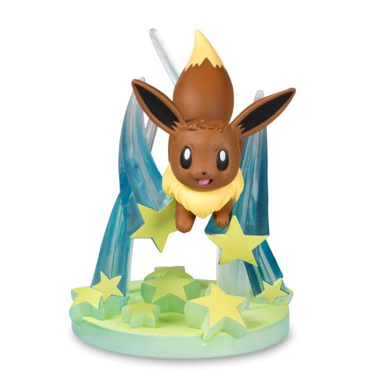Official Eevee Pokémon Gallery Figure, sculpted and painted to show off Eevee's moves. A Pokémon Center Original design.