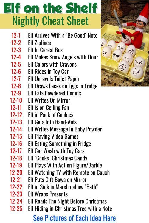 Elf On The Shelf Calendar 2021 101+ Elf on the Shelf Ideas for Christmas 2021 (crazy elf! such