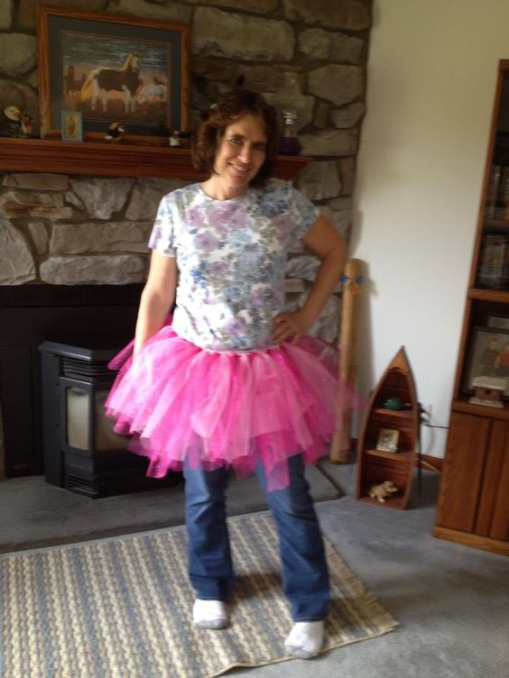 oh this is lovely.  Tutu modeling for the next Susan G. Komen