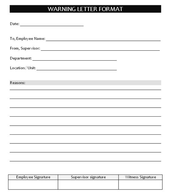 Warning letter sample format office Pinterest Letter sample - debit memo sample