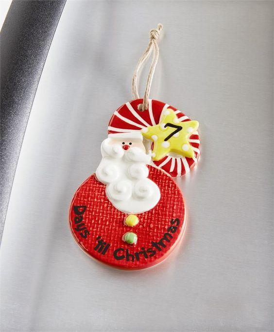 Magnetic Santa Countdown Ornament