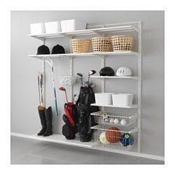 algot wall upright shelf and basket white algot white wall mounted storage