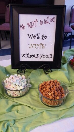 """Going away party: """"We mint to tell you we'll go nuts without you."""""""