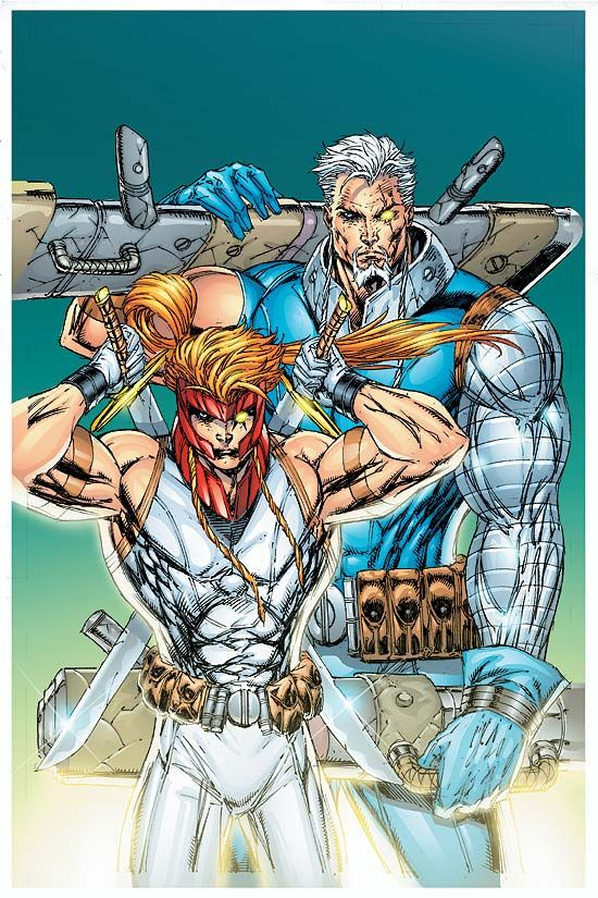 Shatterstar & Cable by Rob Liefield