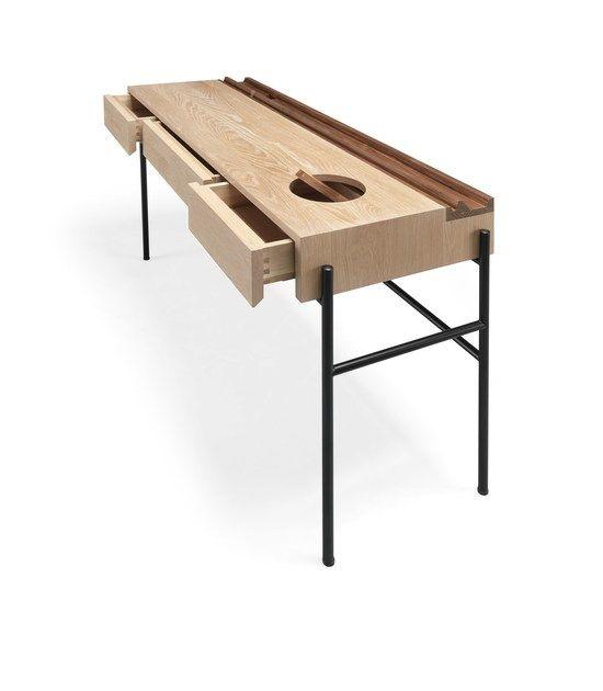 Table Console Secretaire En Bois Massif Avec Images Bois Massif Console Bureau