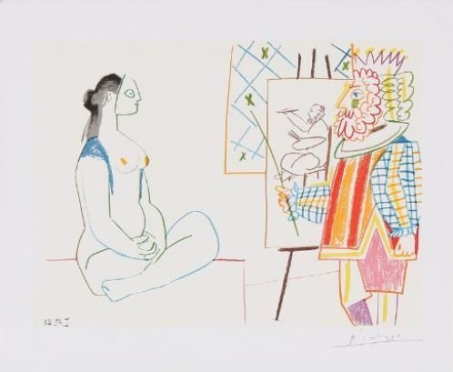 Pablo Picasso Five Compositions From The Serie La Comedie