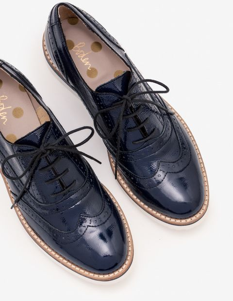 Platform Lace Up Brogues Womens Outfit Brogues Womens Navy Oxford Shoes