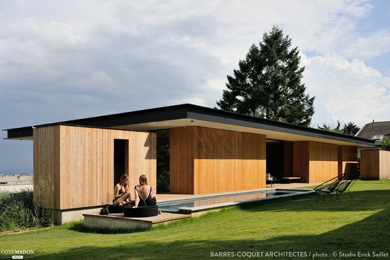 Maison En Bois Bardage D Une Façade Pictures to pin on Pinterest