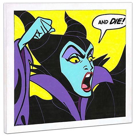 Limited Edition Disney Fine Art Pop! ''Birthday Wishes'' Maleficent Giclée on Canvas
