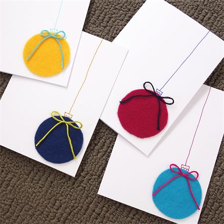 Set of 5 Christmas Bauble Cards