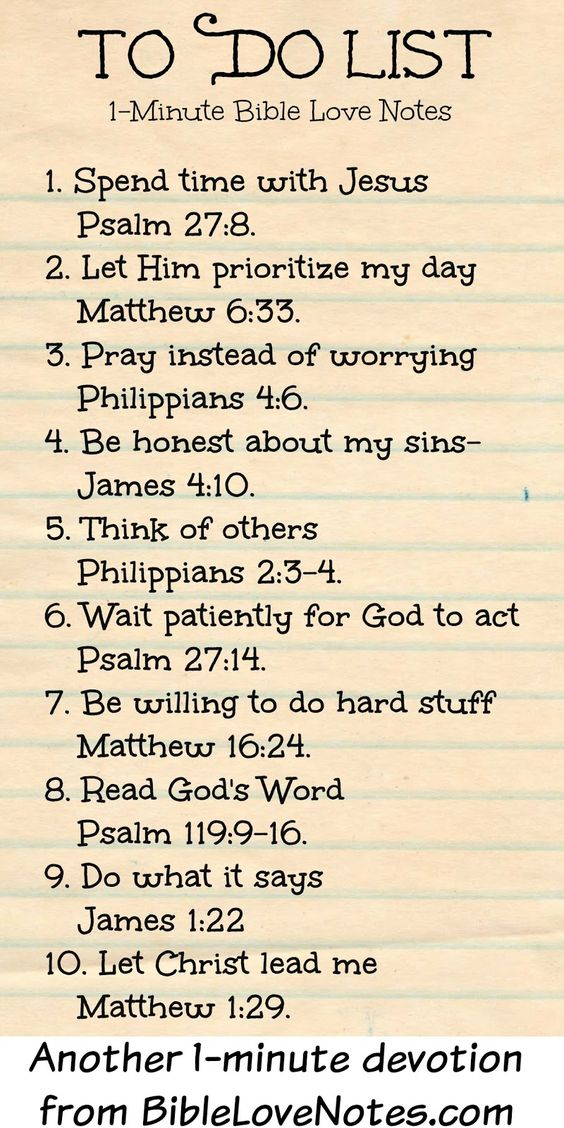 1-Minute Bible Love Notes To Do List Oraciones, Prayers - another word for to do list