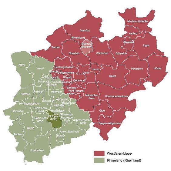 Rheinland (Nordrhein) und Westfalen-Lippe