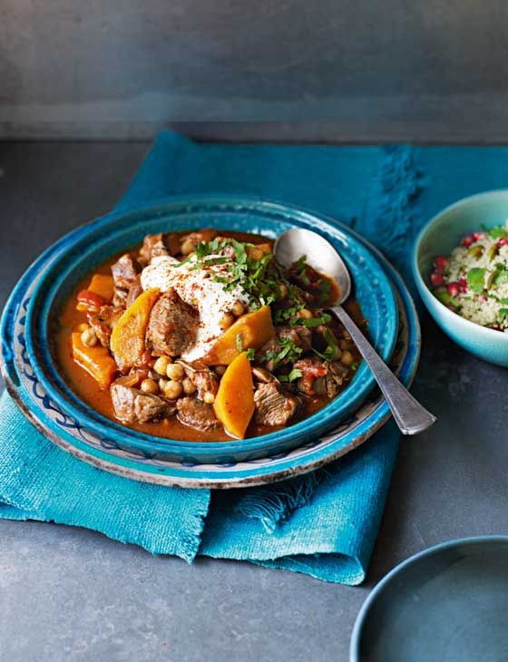 Lamb, squash and date tagine.