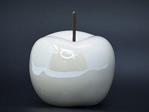 Apfel Keramik Verschiedene Farben Und Grossen Dekoapfel Creme In
