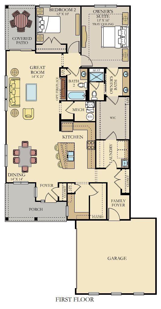 Dunbar New Home Plan In Pebble Brook Villas By Lennar Lennar Smart House Plans New House Plans