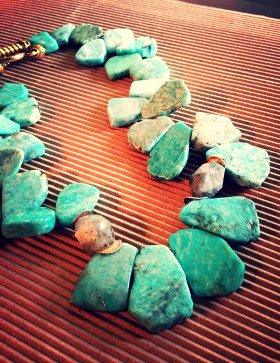 Turquoise necklace on Etsy, $78.00